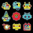 Royalty-Free Stock Vector Image: Cartoon robots and monsters faces in color #2.
