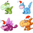 Royalty-Free Stock Vector Image: Christmas dino\'s