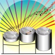 Steel Pan Drums — Stock Vector