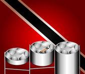Steel Pan Drums — Stock Vector