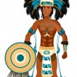 Aztec Carnival Costume — Stock Vector