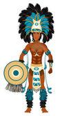 Aztec Carnival Costume — Stock Vector