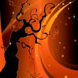 Royalty-Free Stock Vector Image: Halloween Tree Background