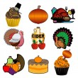 Thanksgiving Icons 3 — Stock Vector