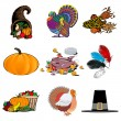 Stock Vector: Thanksgiving Icons 1