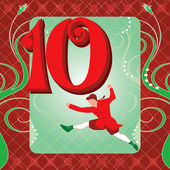 10th Day of Christmas — Stock Vector