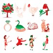 12 Days of Christmas - Stock Vector