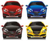 Konsept otomobiller - Sedan ayarla — Stok Vektör