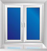 White plastic window — Stock Vector