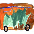 The drawing Bus - Foto Stock