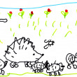 Child's drawing — Stock Photo #7235793