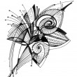 Flower - Abstract drawing — Foto de Stock