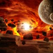 Planet earth apocalypse - Stock Photo