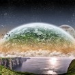 Space planet landscape — Stock Photo