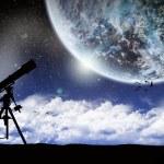 Постер, плакат: Space planet landscape