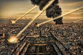 Doccia meteorite sopra parigi — Foto Stock
