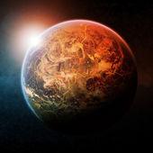Planet space illustration — Stock Photo