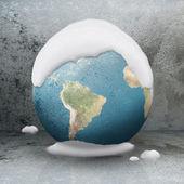 Zmrazené planety země — Stock fotografie