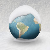 Frozen planet earth — Stock Photo
