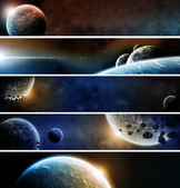 Planet banner web pack — Stock Photo