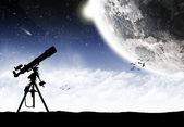 Ruimte planeet landschap — Stockfoto