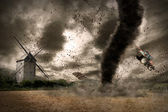 Tornado opwarming — Stockfoto