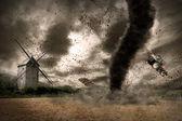 龙卷风全球变暖 — 图库照片