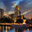 View on Frankfurt am Main at dusk, Germany - ストック写真