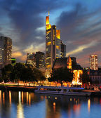 View on Frankfurt am Main at dusk, Germany — Stock Photo