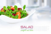 Fresh mixed salad with tomatoes — 图库照片