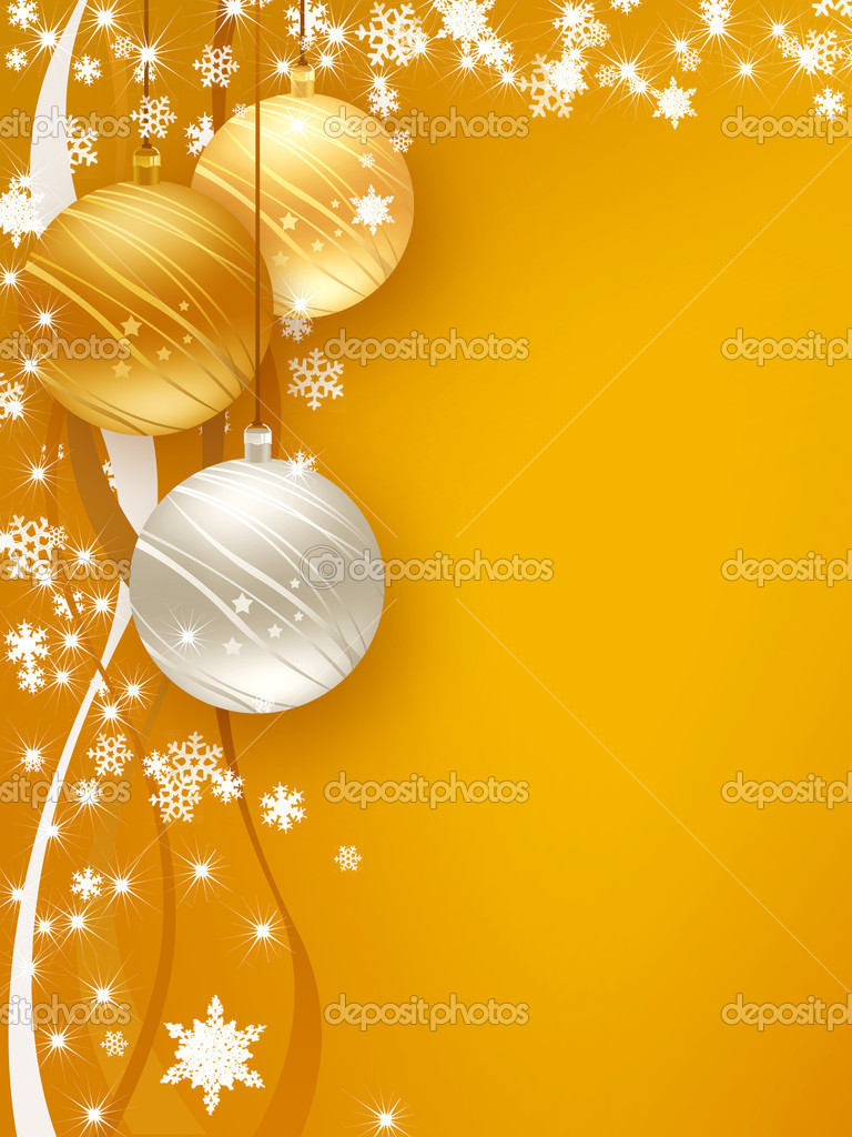 Background wishes for Christmas and Happy New Year — Stock Photo #6828941