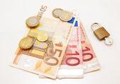 Money + lock — Stock Photo