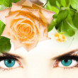 Eyes women — Stock Photo