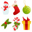 Vector Christmas icons set — Stock Vector