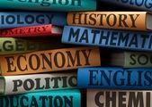Livros de estudo de educação — Fotografia Stock
