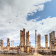 Oil refinery petrochemical industry — Stock Photo