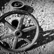 Stock Photo: Old cog wheel