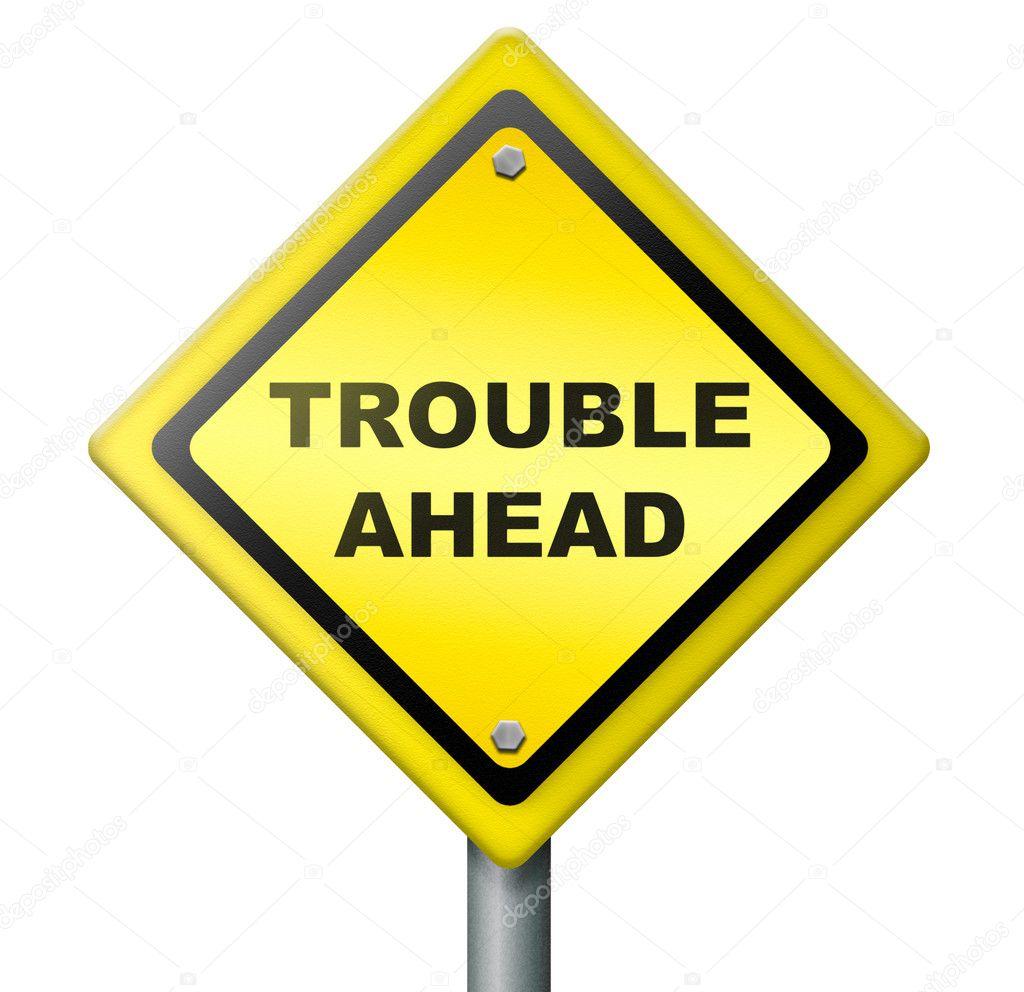 Problem Yellow Warning Sign Caution Trouble Issue Stock: Stock Photo © Kikkerdirk #7666133