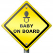 Stock Photo: Baby on board