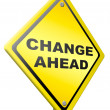 Change ahead change and improvement better — Stock Photo