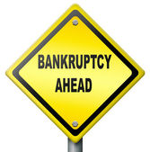 Bankruptcy ahead — Stock Photo