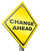 Change ahead change and improvement better — Stock Photo