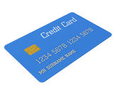 3d Blue credit card — Stock Photo
