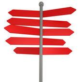 3d blank arrow sign — Stock Photo