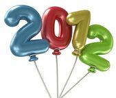 2012 Year Balloons — Stock Photo