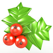 3d Holly berries — Stock Photo