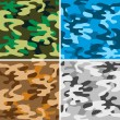 图库矢量图片: Camouflage backgrounds