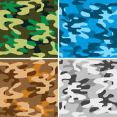 Camouflage backgrounds — Stock Vector