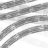 轮胎轨道背景 — 图库矢量图片