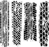Huellas de neumáticos — Vector de stock